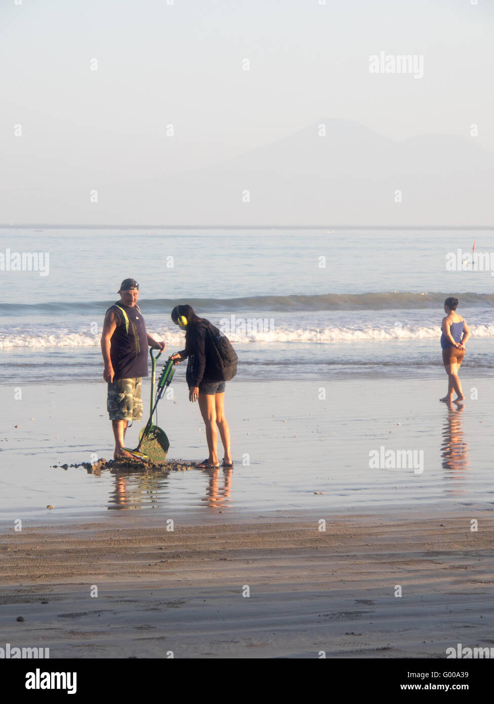 Jew Detector: Woman With Metal Detector Stock Photos & Woman With Metal