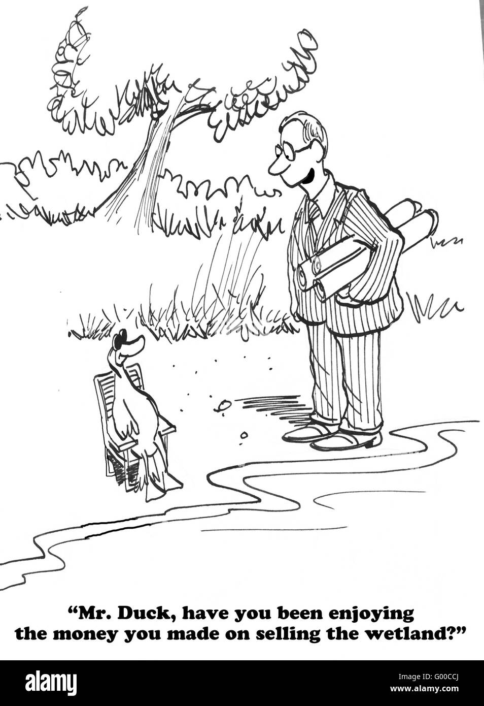 Cartoon About Endangering The Natural Environment