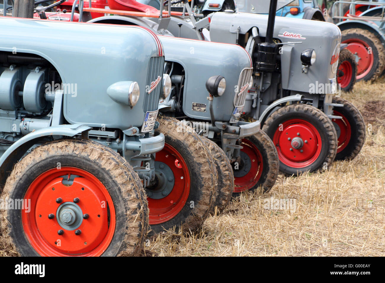 Tractor meeting / Oldtimertreffen Stock Photo