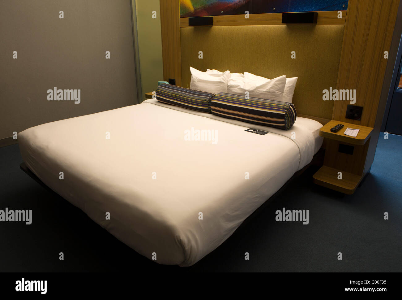 Bed In A Guestroom Of The Aloft Hotel At San Jose Costa Rica The