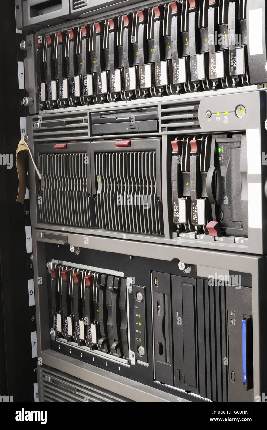 Rack mounted system storage and servers Stock Photo: 103276141 - Alamy