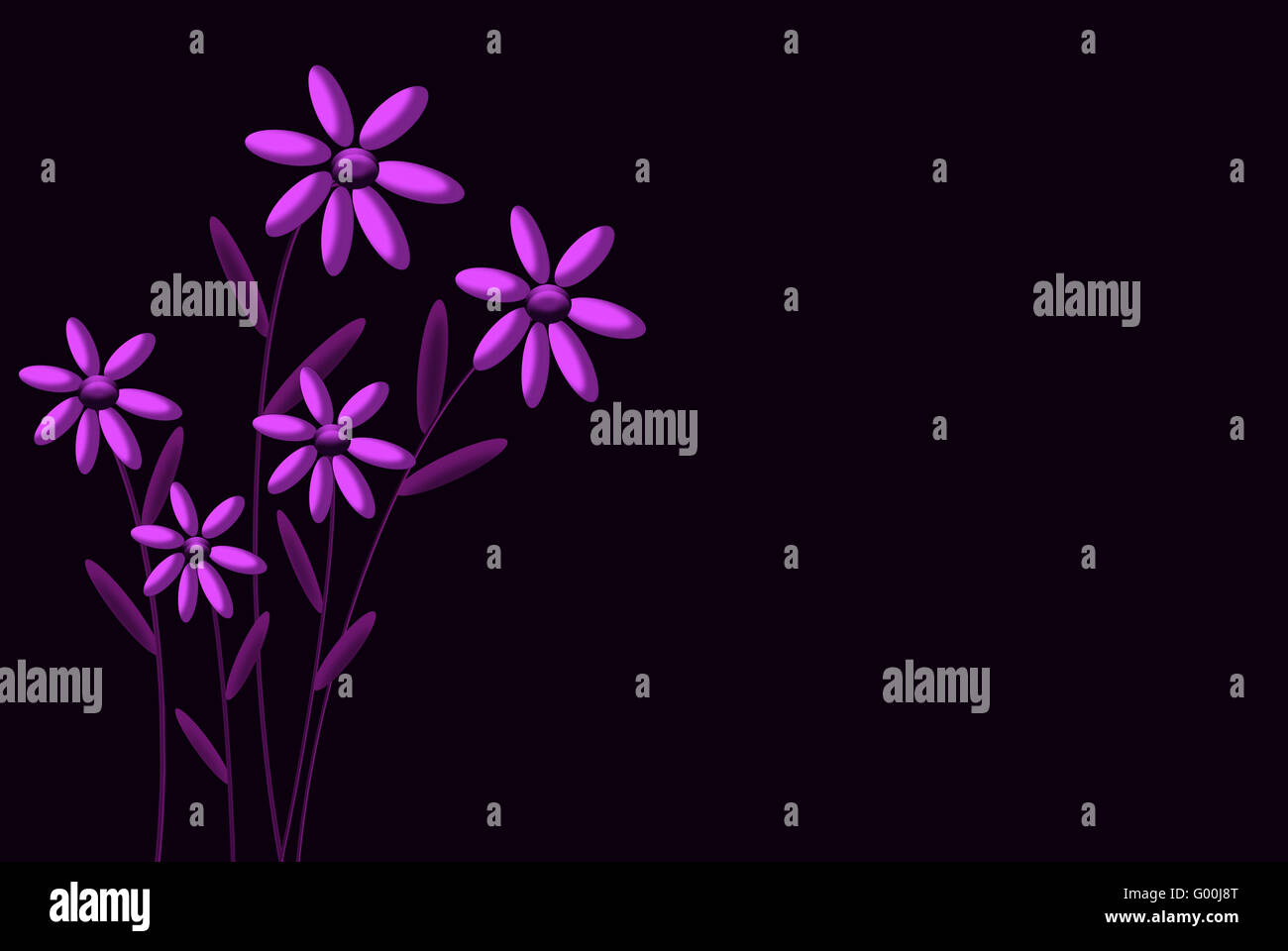 blumen violett - Stock Image