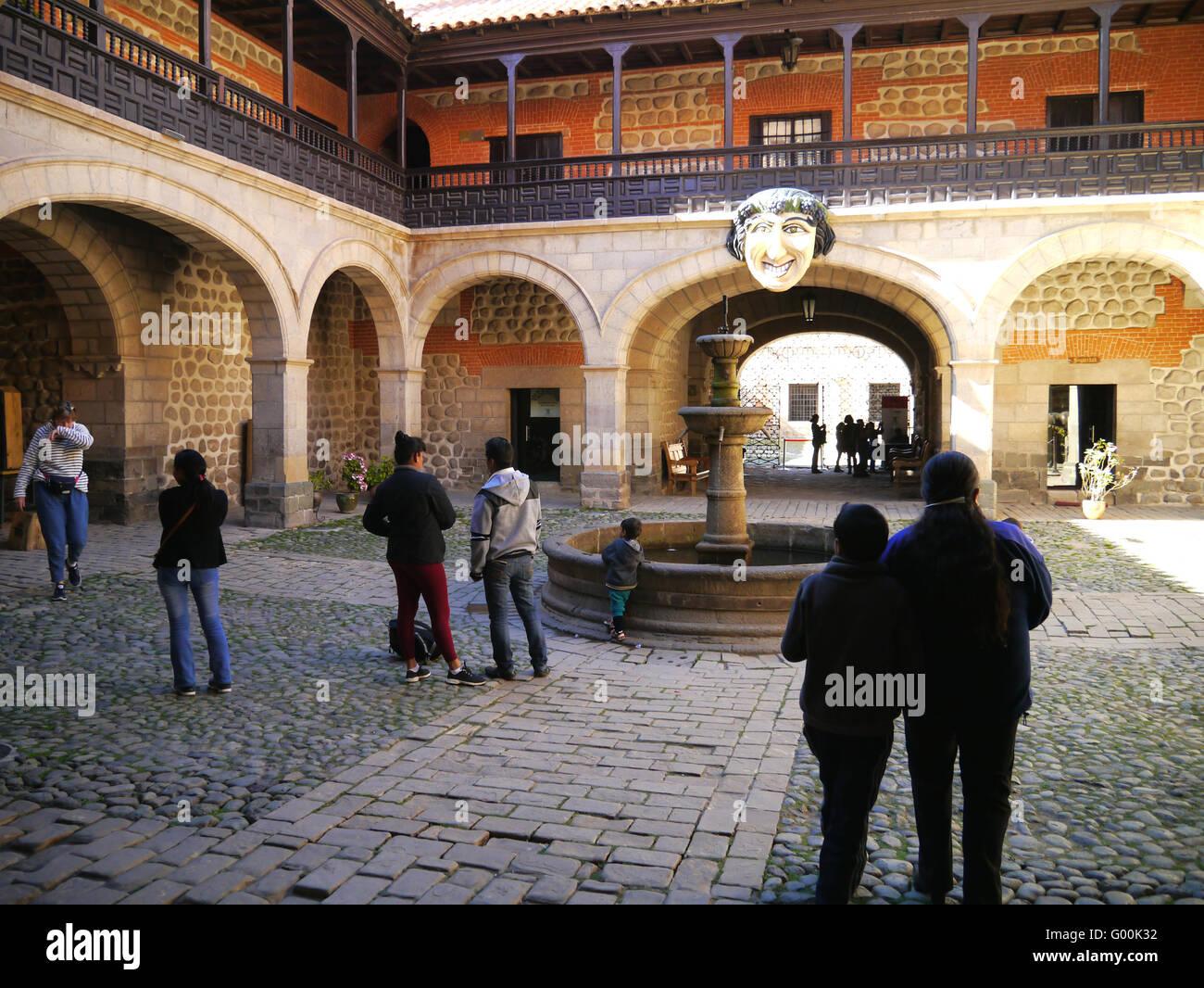 Courtyard of Potosi Mint - Stock Image