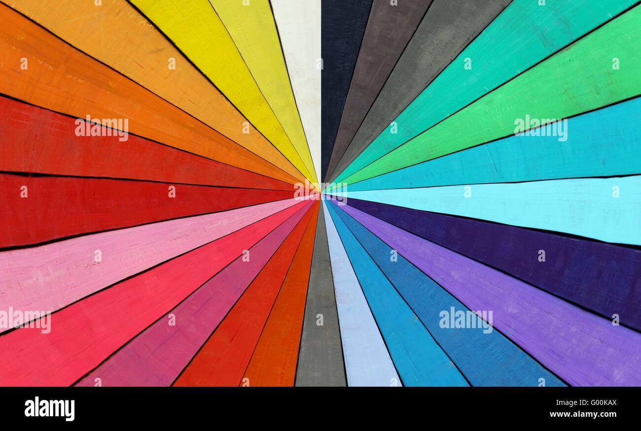 Color range - spectrum - Stock Image