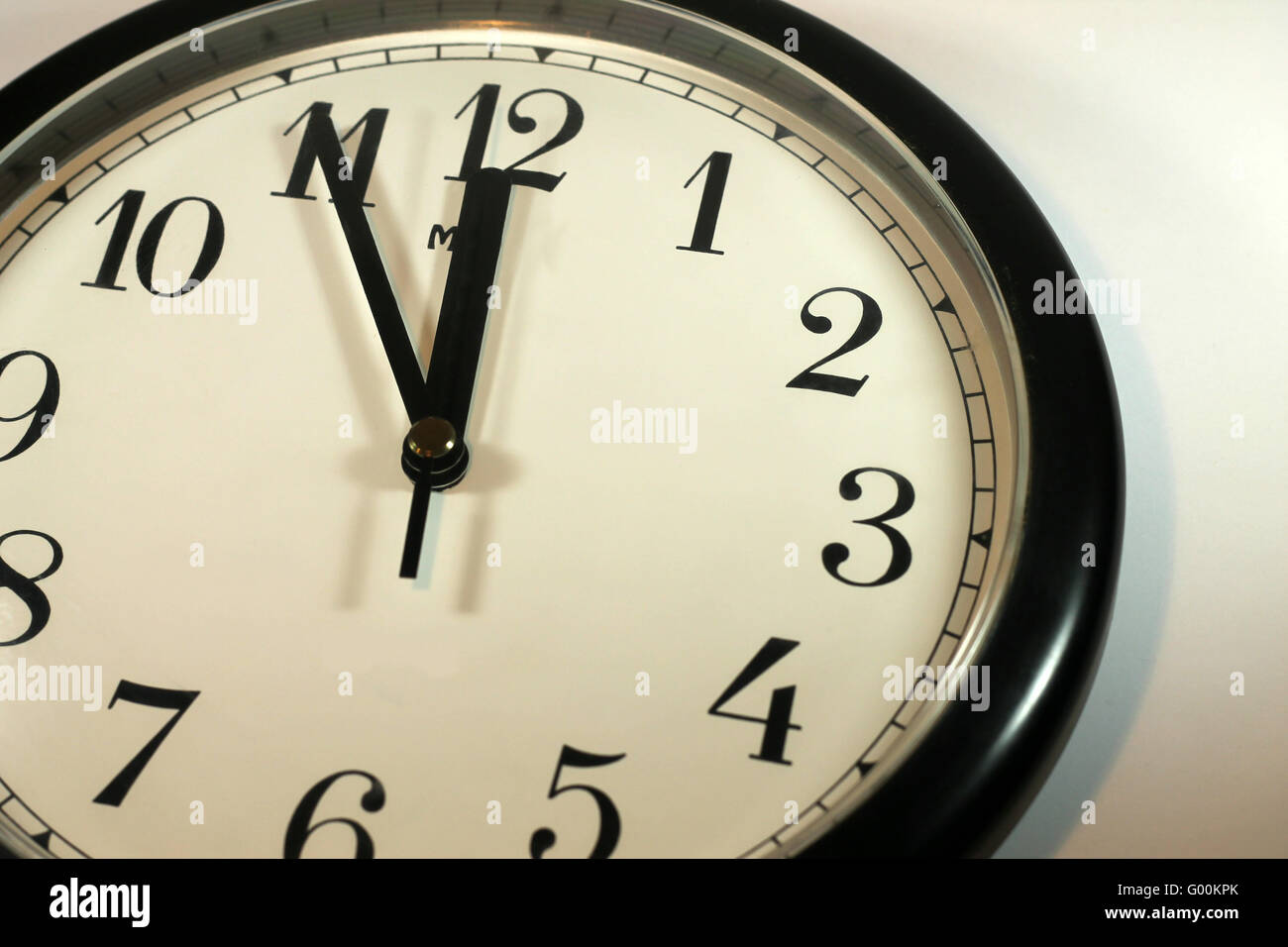 Time is running out - clock 11:55 - Stock Image