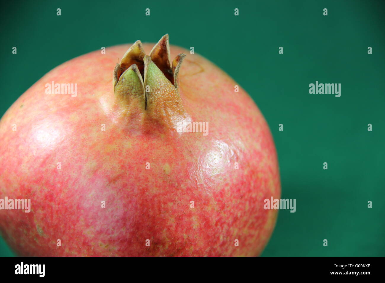 Pomegranate on a neutral background - Stock Image