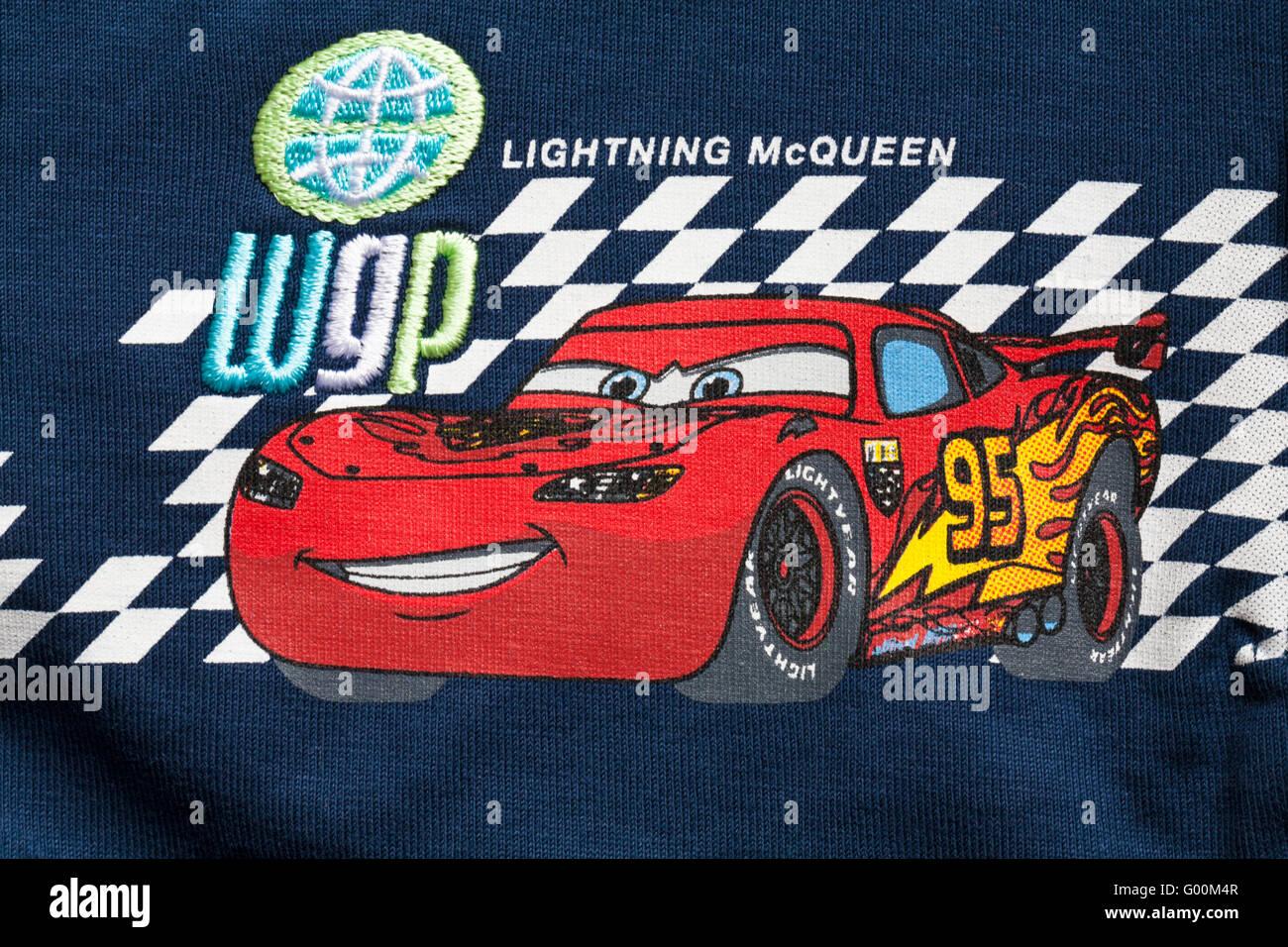 Boys Top With Lightning McQueen Disney Car