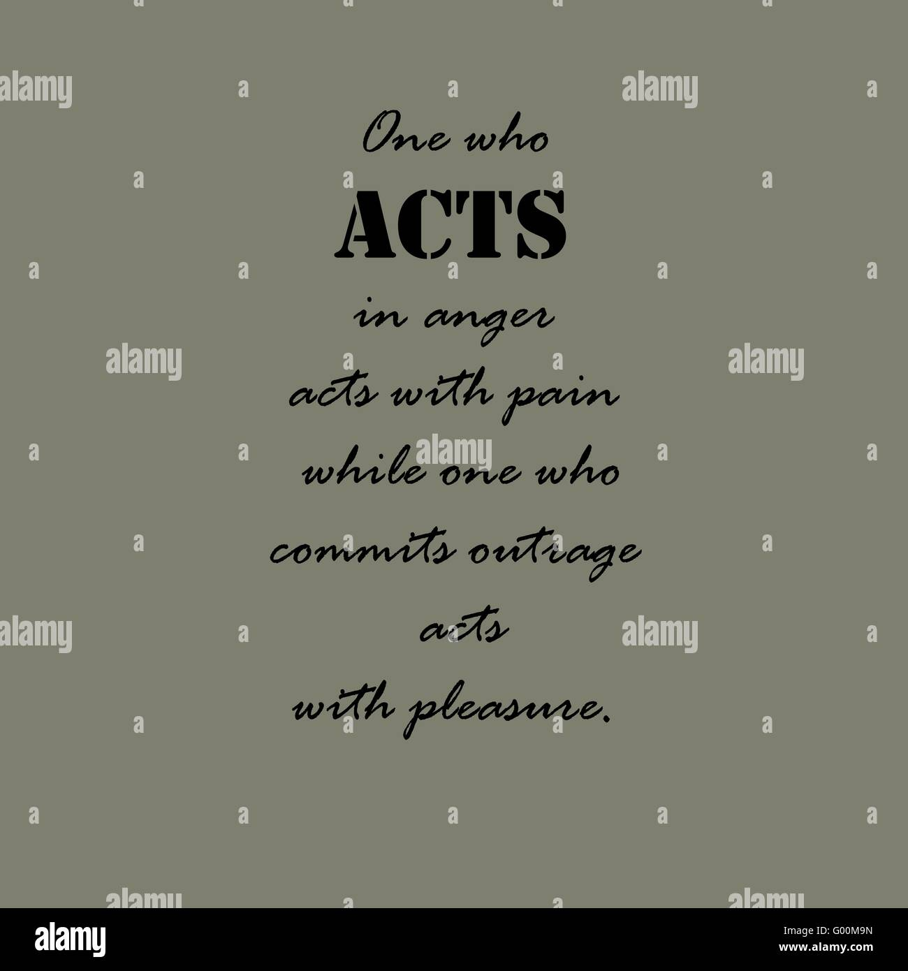 Aristotle Quotes One Who Acts In Anger Stock Vector Art