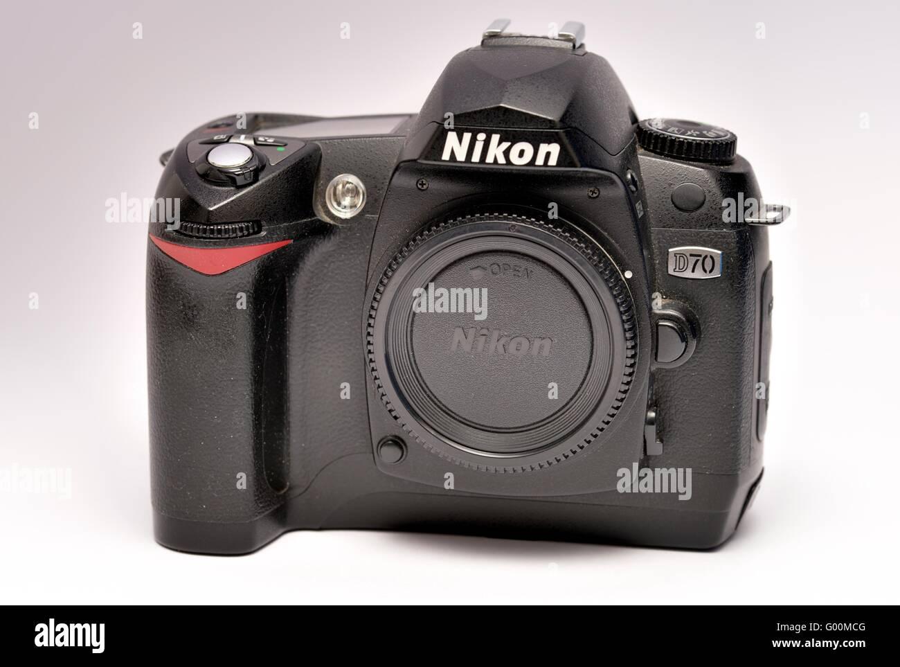 A Nikon D70 Digital SLR camera - Stock Image