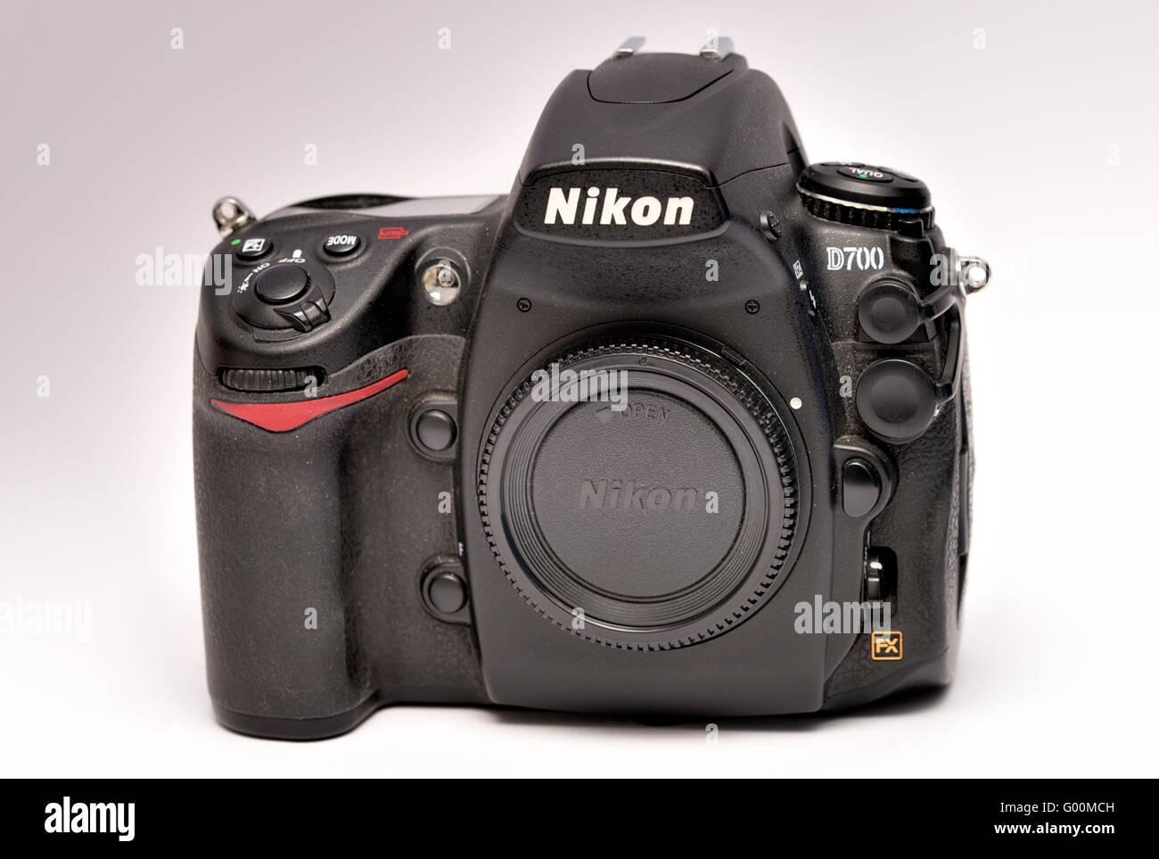 A Nikon D700 Digital SLR camera - Stock Image