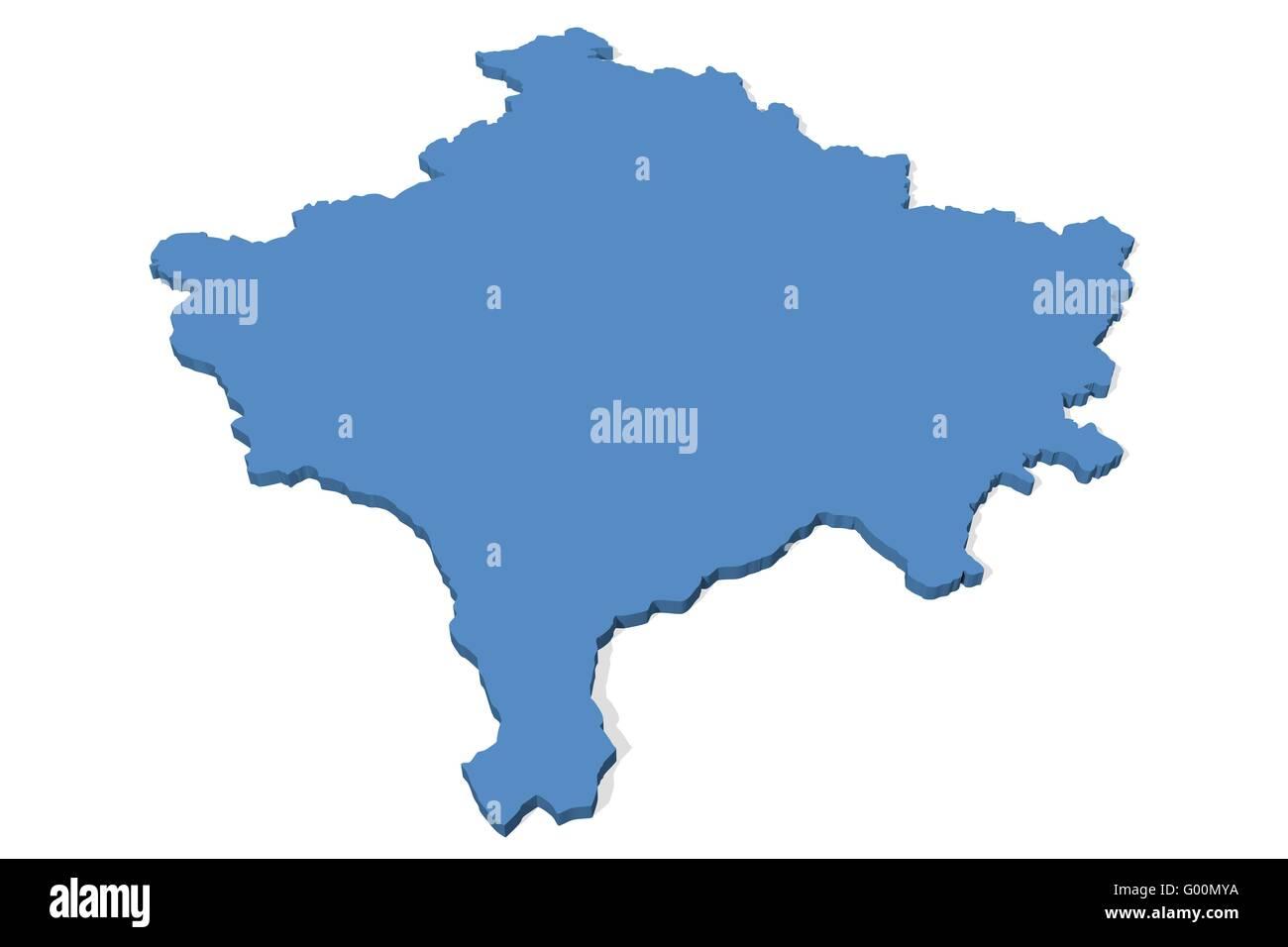 Kosovo map stock photos kosovo map stock images alamy kosovo map stock image gumiabroncs Image collections