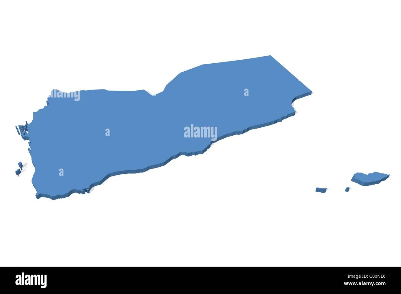 Yemen Map - Stock Image