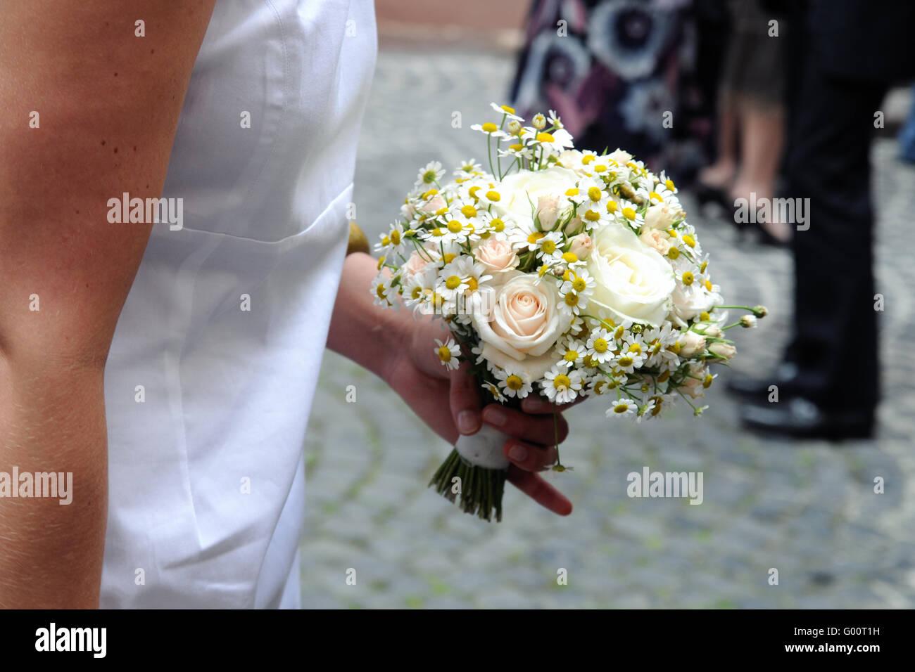 Yellow wedding - Stock Image