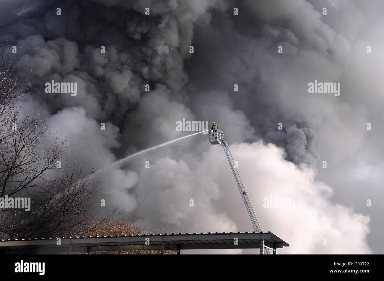 Feuerwehr Einsatz - Stock Image