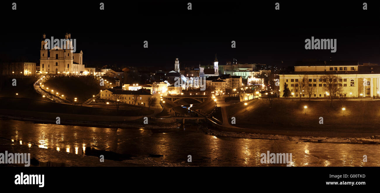 Night City Panorama. - Stock Image
