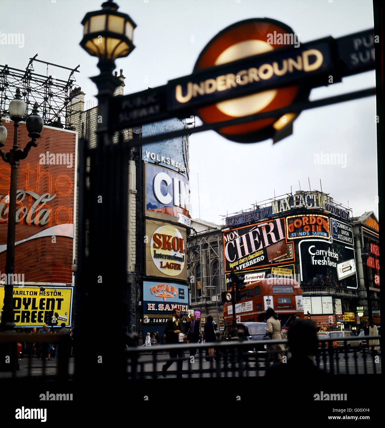 London Picadilly Circus - Stock Image