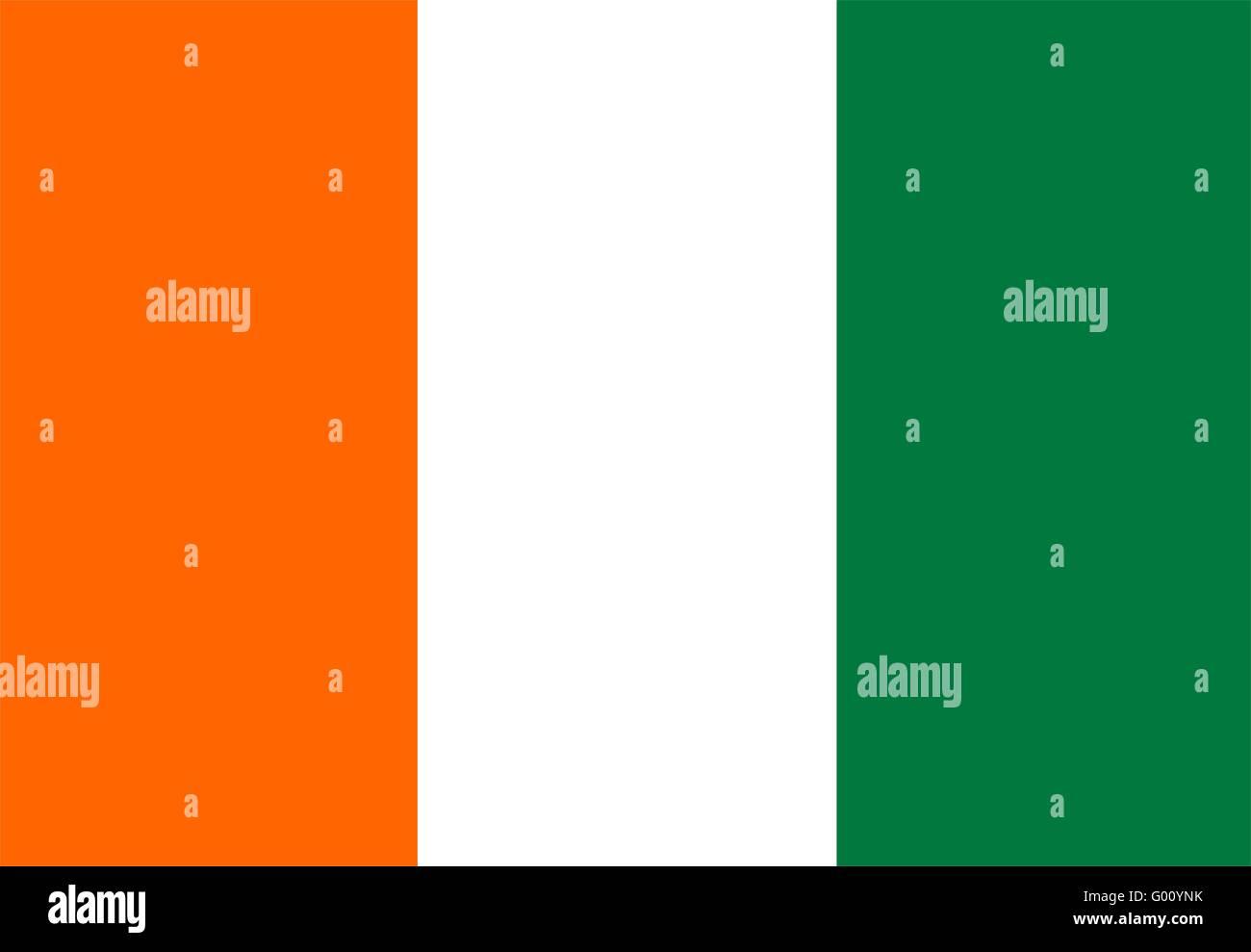 Cote D`Ivoire Flag - Stock Image