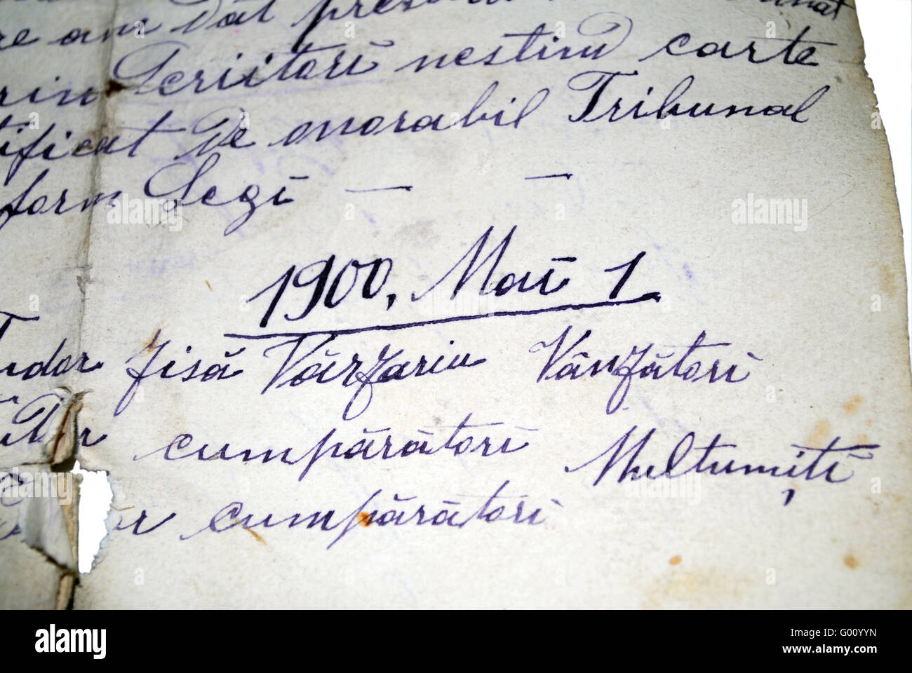 Hand Written Text - Stock Image
