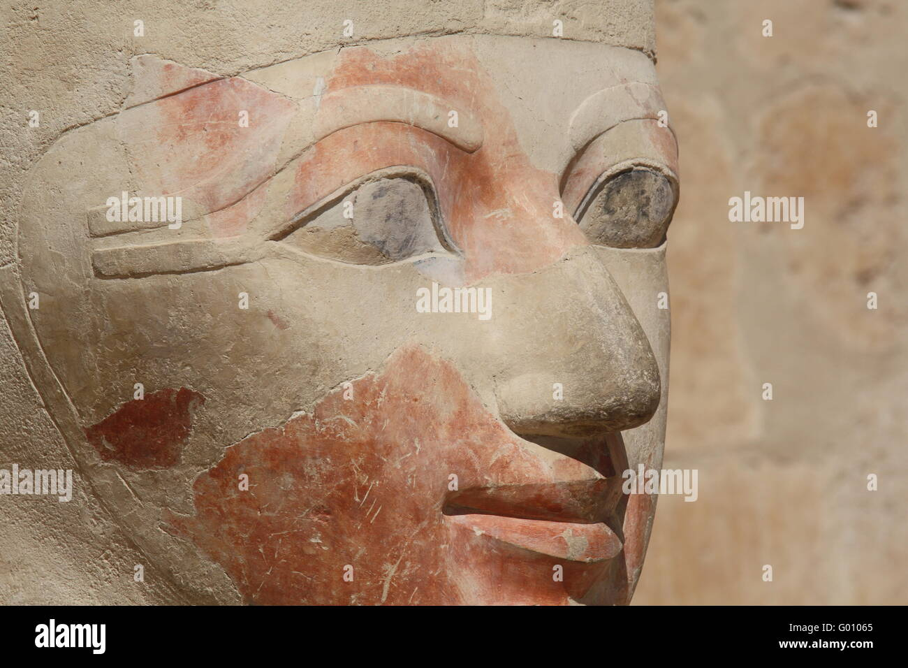 Egyptian antique sculpture - Stock Image