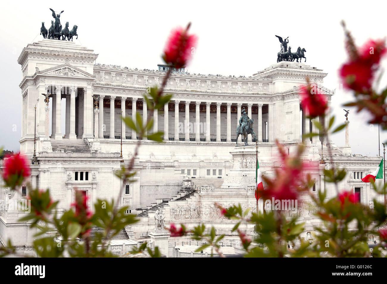 Rome 27th April 2016. the Tomb of the Unknown Soldier, called Altare della Patria. Photo Samantha Zucchi Insidefoto - Stock Image