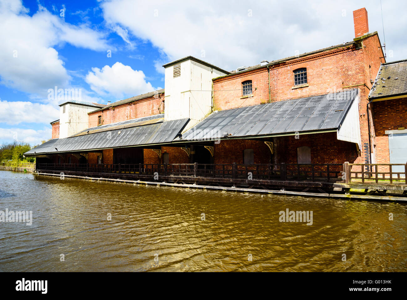 Wigan Pier on the Leeds and Liverpool Canal in Wigan Greater Manchester UK - Stock Image