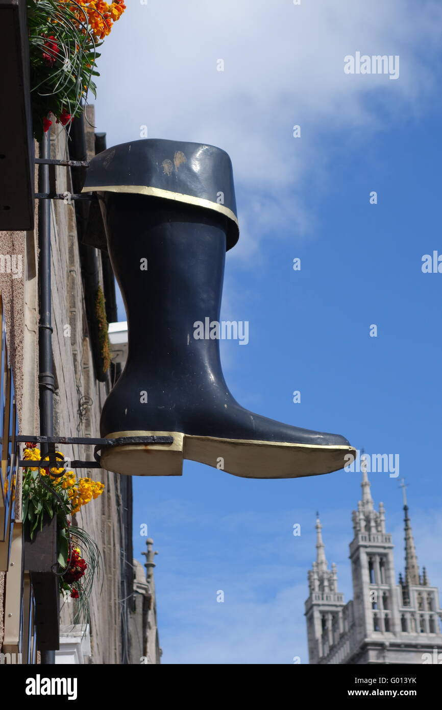 Bootmaker sign - Stock Image