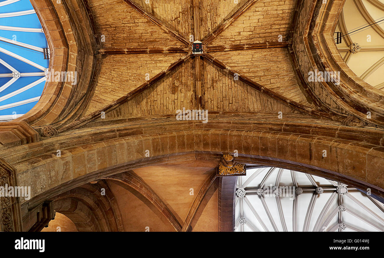 Various types of ceilings at St GilesCathedral.Edinburgh. Stock Photo