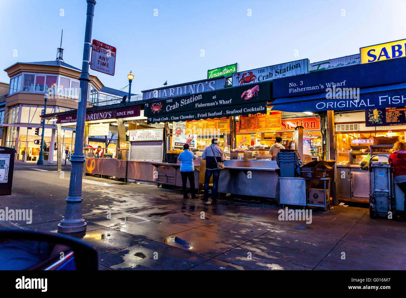 Guardino's food stand at Fisherman's Wharf in San Francisco California - Stock Image
