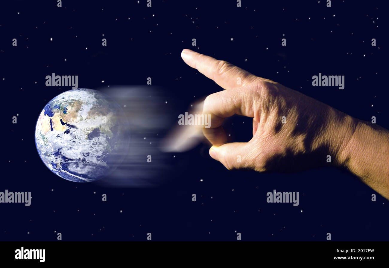 Destruction of our earth - Stock Image