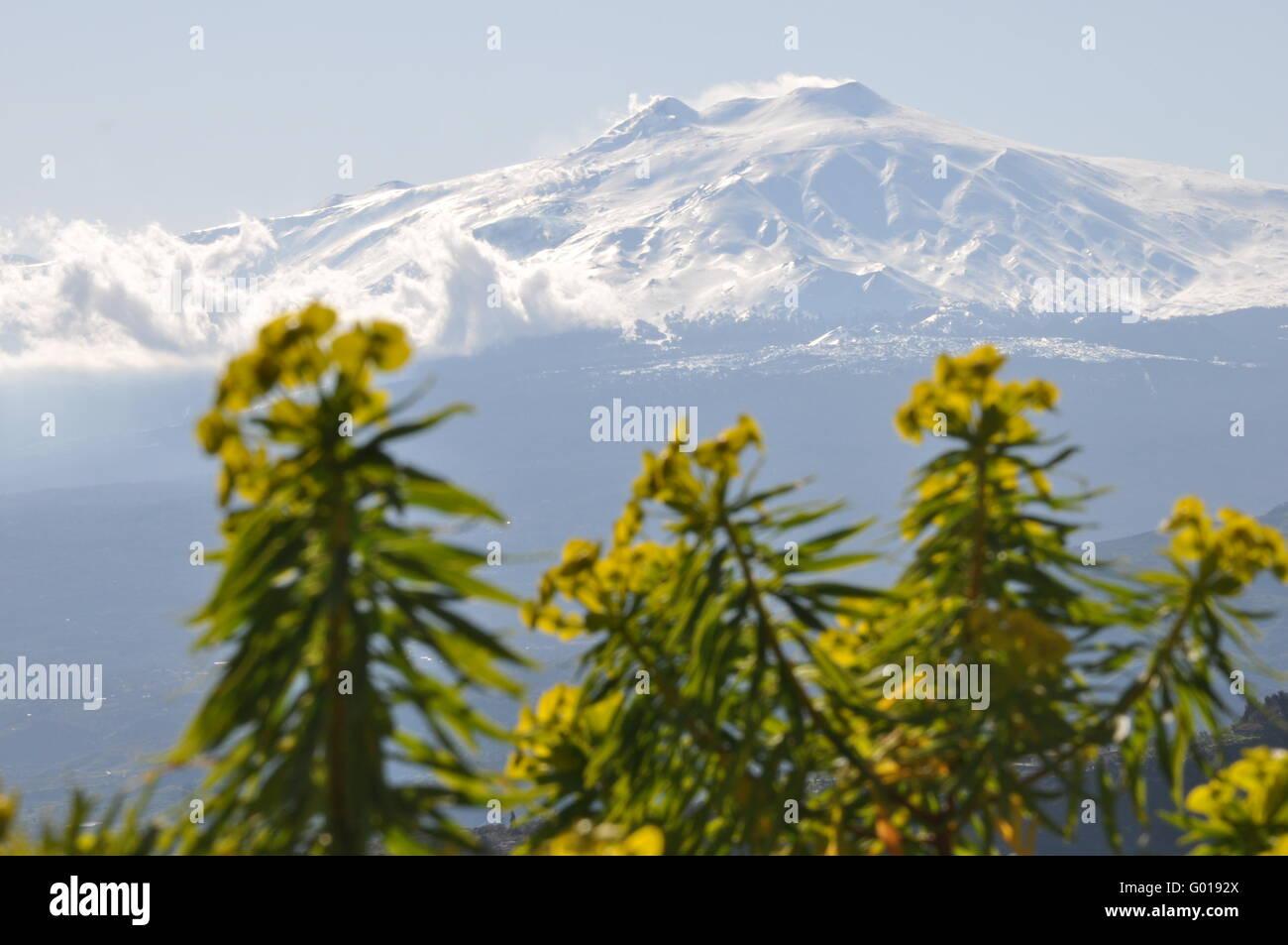 Mount Etna in Sicily - Stock Image