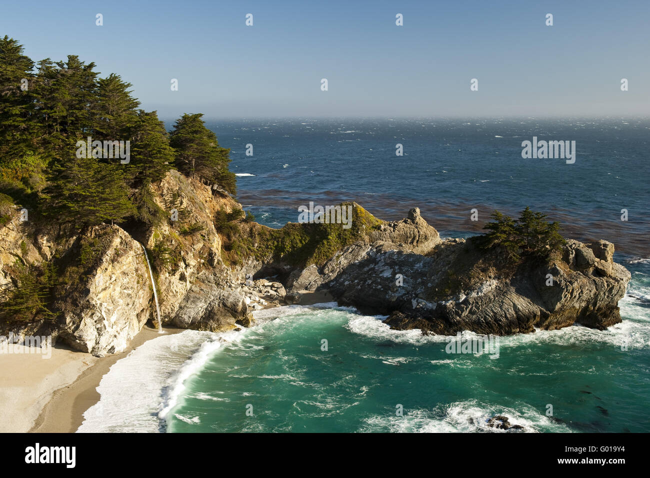 McWay-Cove in Big Sur - Stock Image