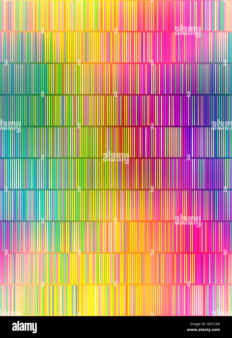 seamless texture of many small vertical vibrant lines - Stock Image