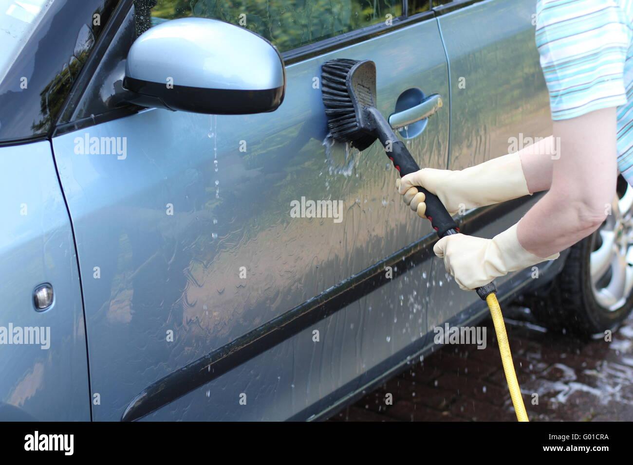 Washing the car Stock Photo