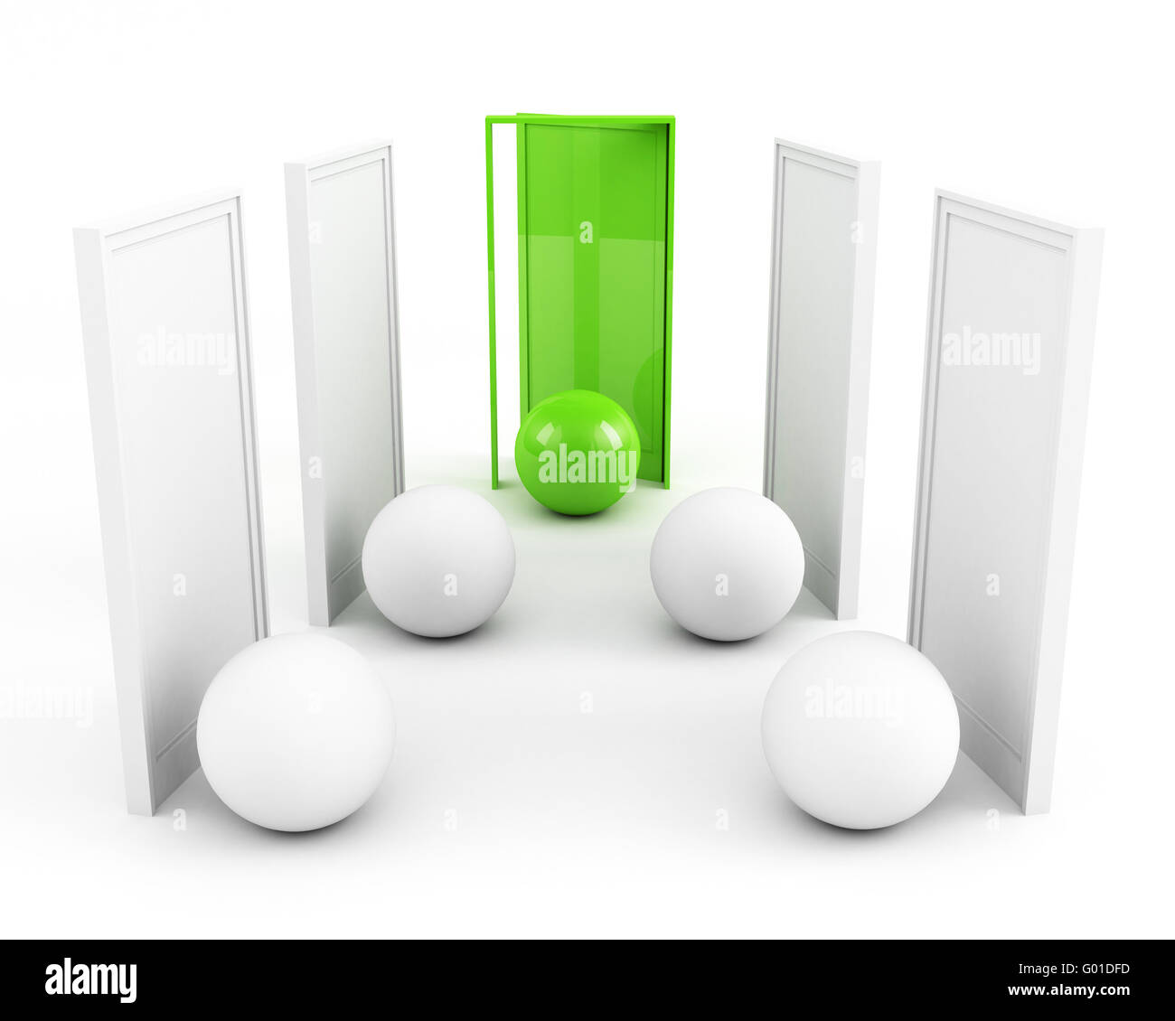 door to success. business success concept. green - Stock Image