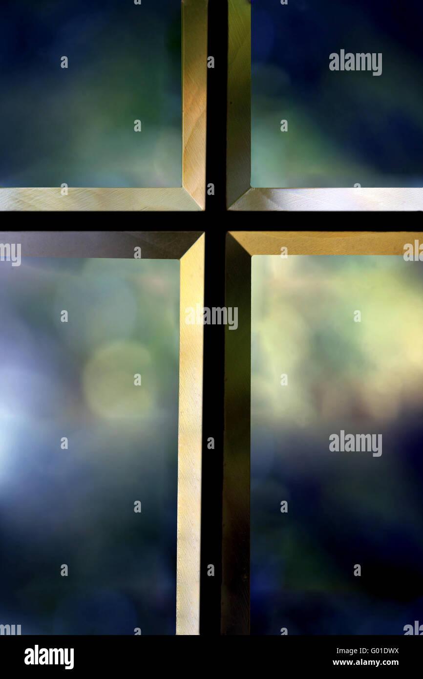 Bevelled Cross - Stock Image
