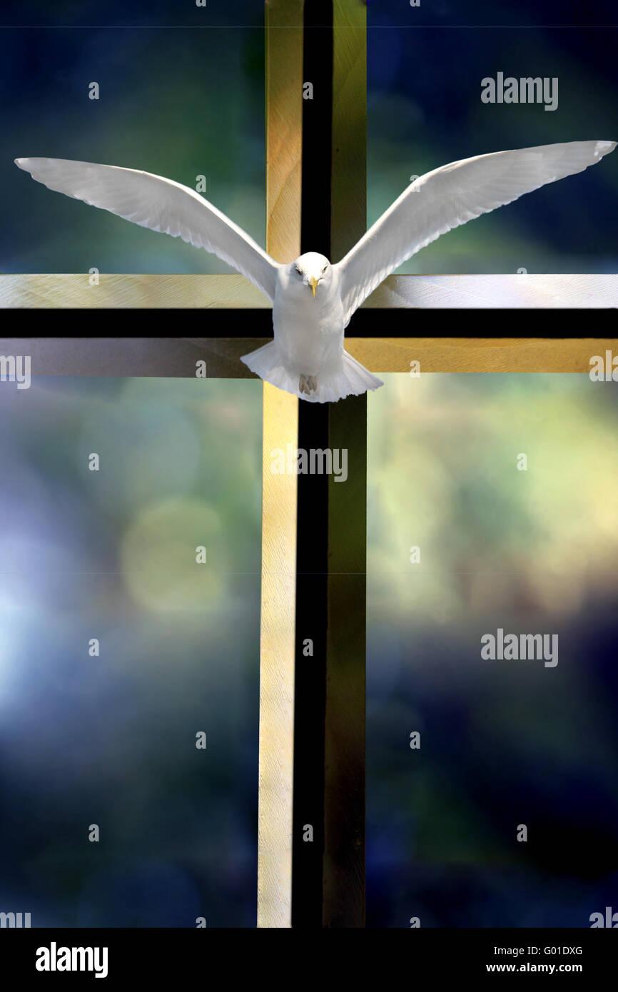 Holy Spirit Cross Stock Photo