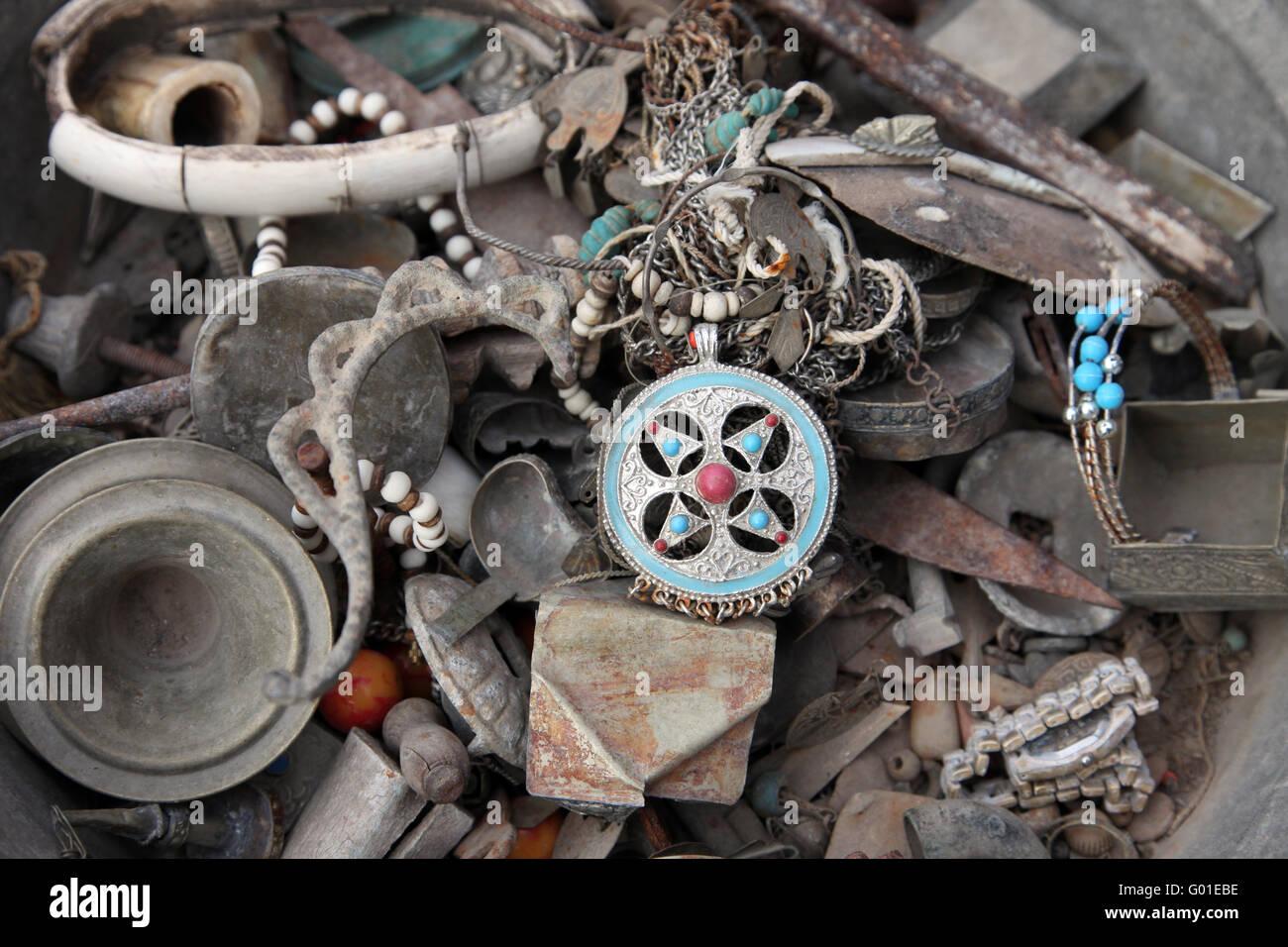 Tunisian antique shop - Stock Image