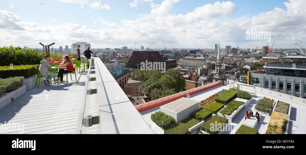 Roof Terrace And Garden With Cityscape. Central Saint Giles, London Stock Photo - Alamy
