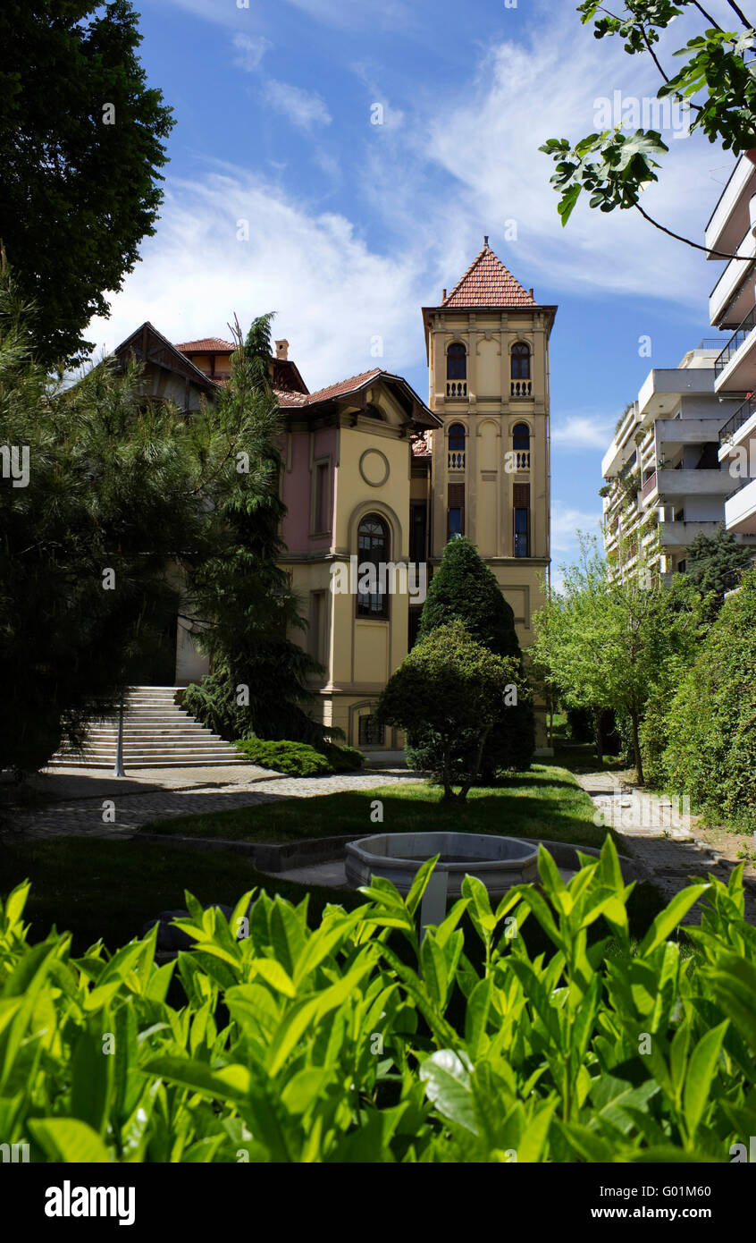 National Bank of Greece MIET cultural foundation hosted in an early 20th-century mansion,owned by Mehmet Effendi - Stock Image