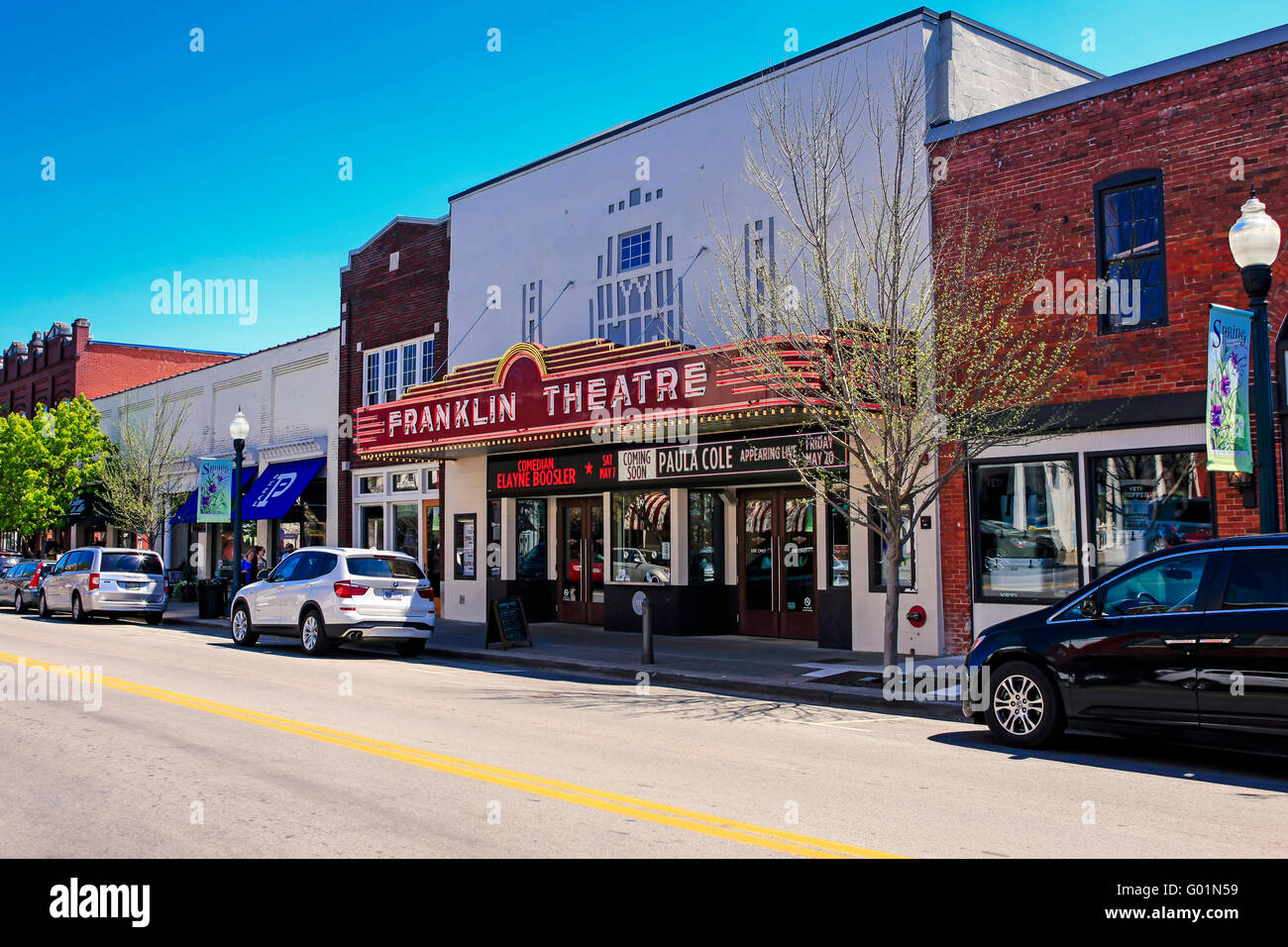 Downtown Franklin Tn >> The Franklin Theatre on Main Street in downtown Franklin, Tennessee Stock Photo: 103300773 - Alamy