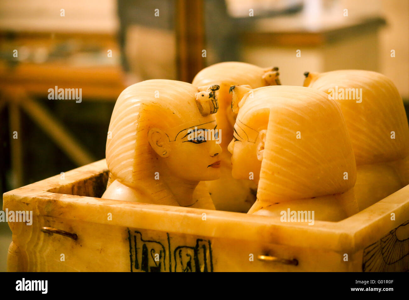 Canopic jar of pharaoh tutankhamun - Stock Image