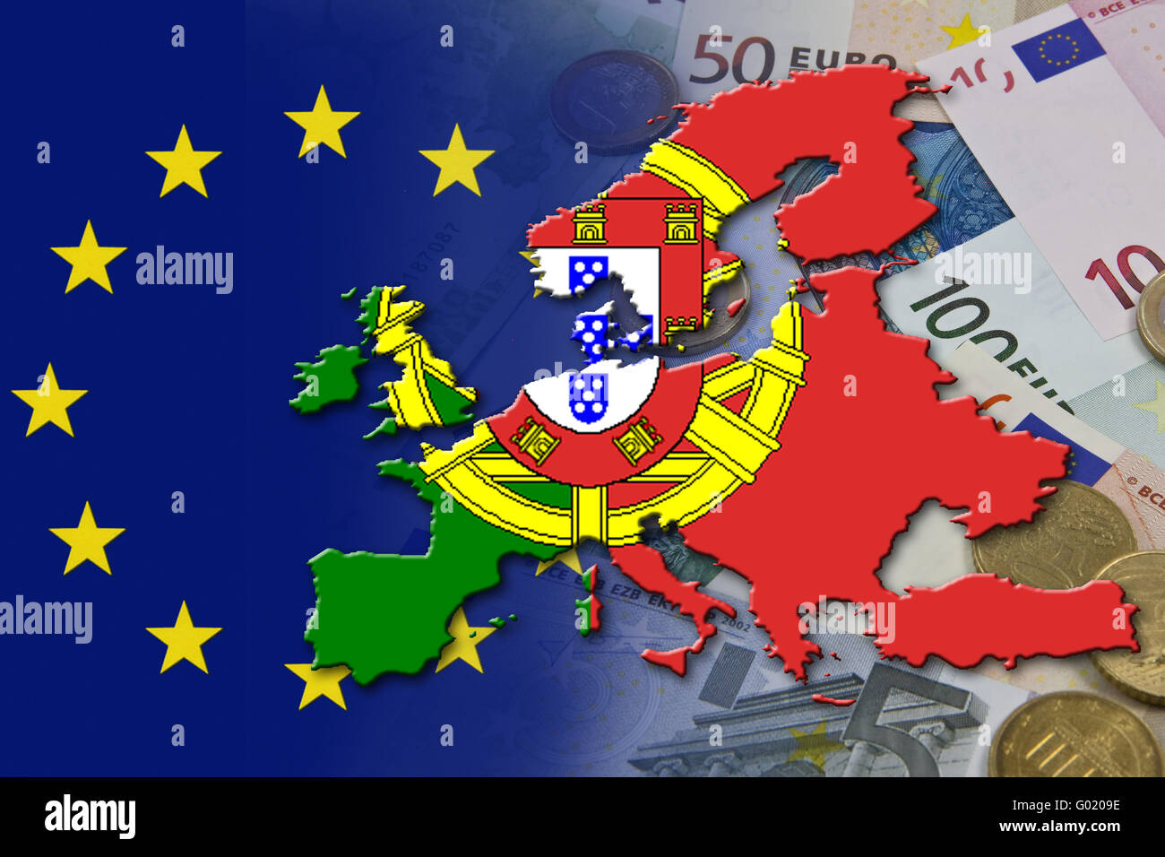 Financial and economic crisis in the euro area in the country Portugal Europe - Stock Image