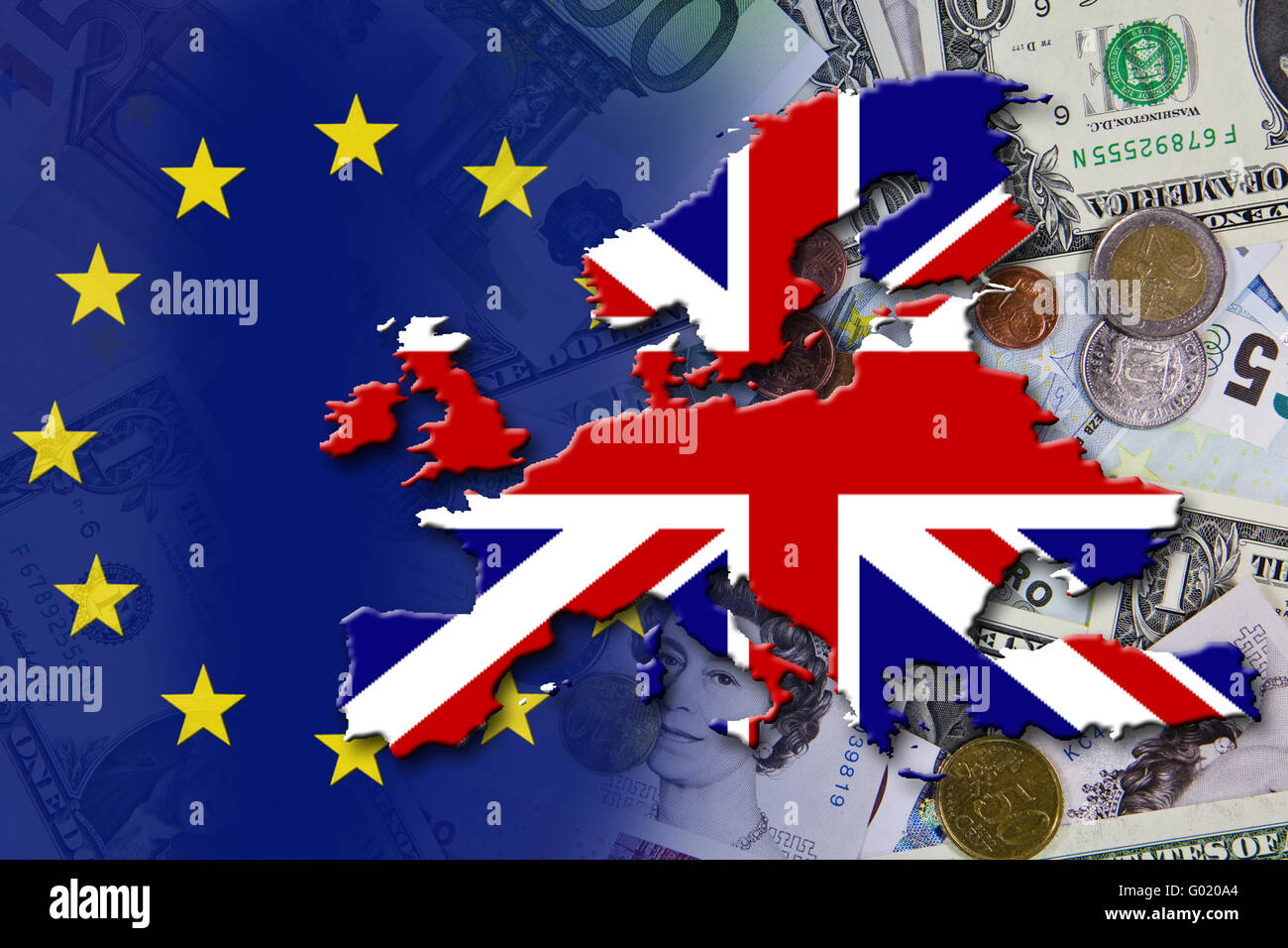 Financial and economic crisis in the euro area in Europe, the country England - Stock Image