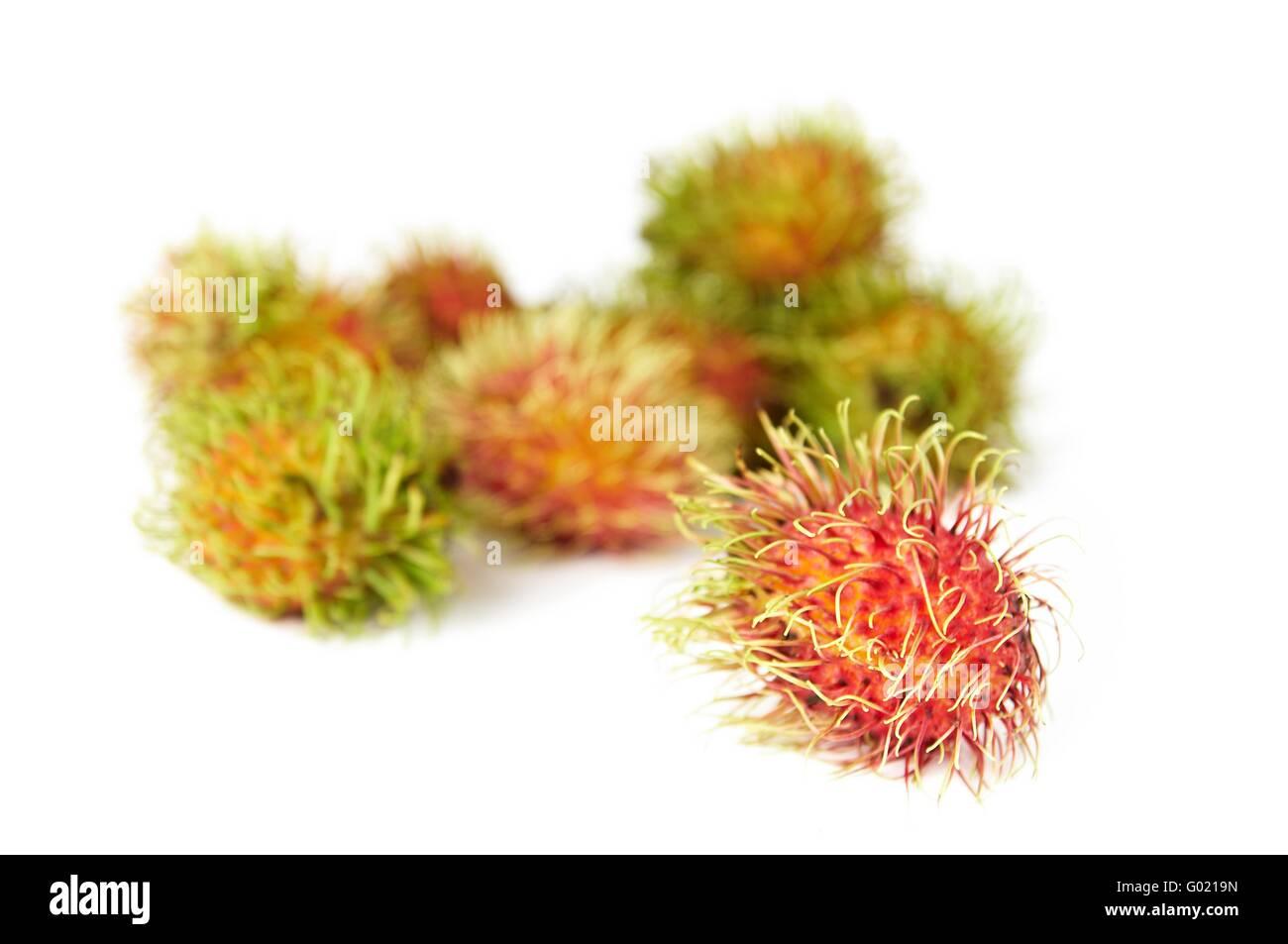 rambutan hairy fruit sweet thai fruit stock photos & rambutan hairy