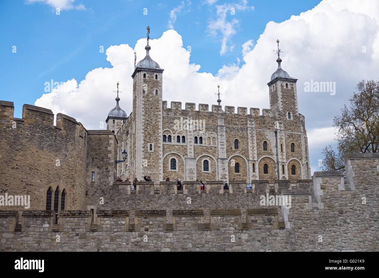 Tower of London castle, London England United Kingdom UK - Stock Image