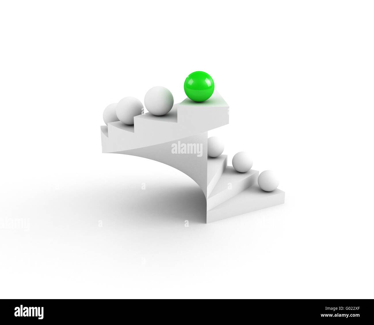 stairs to success. leadership concept. open. green - Stock Image