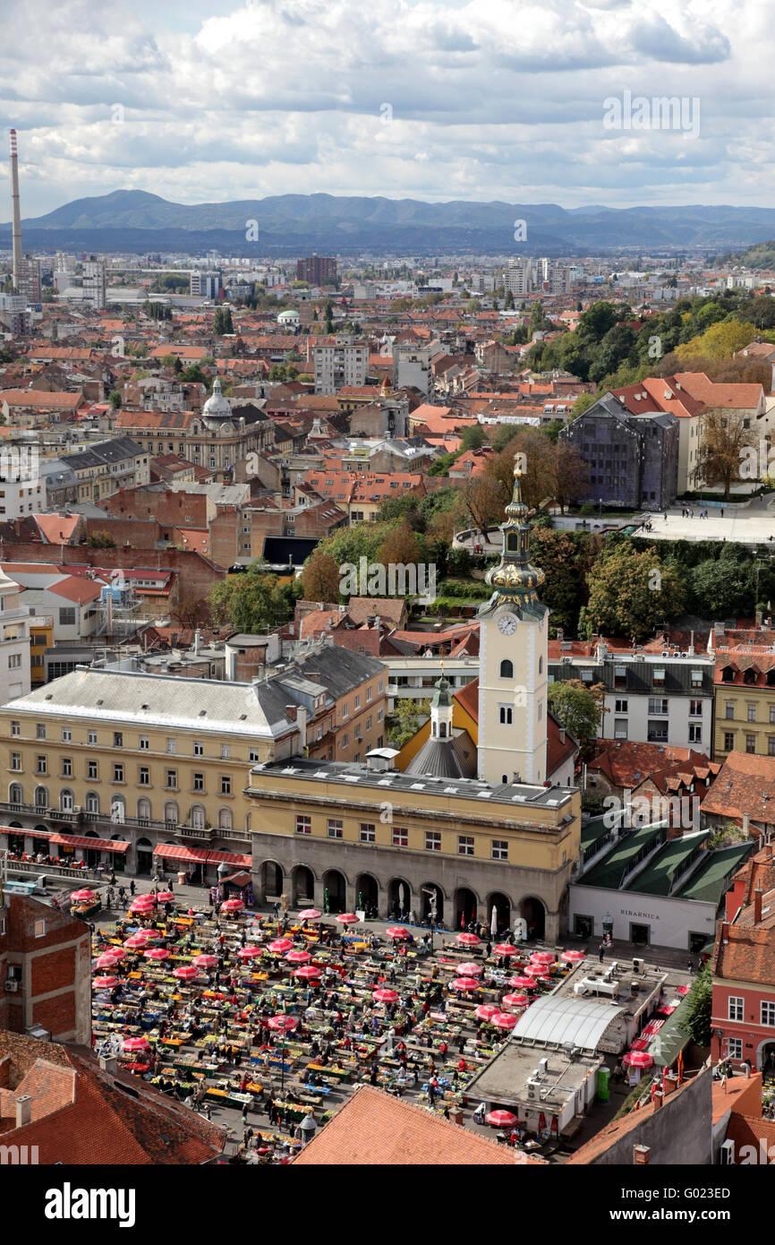 Zagreb capital of Croatia Stock Photo