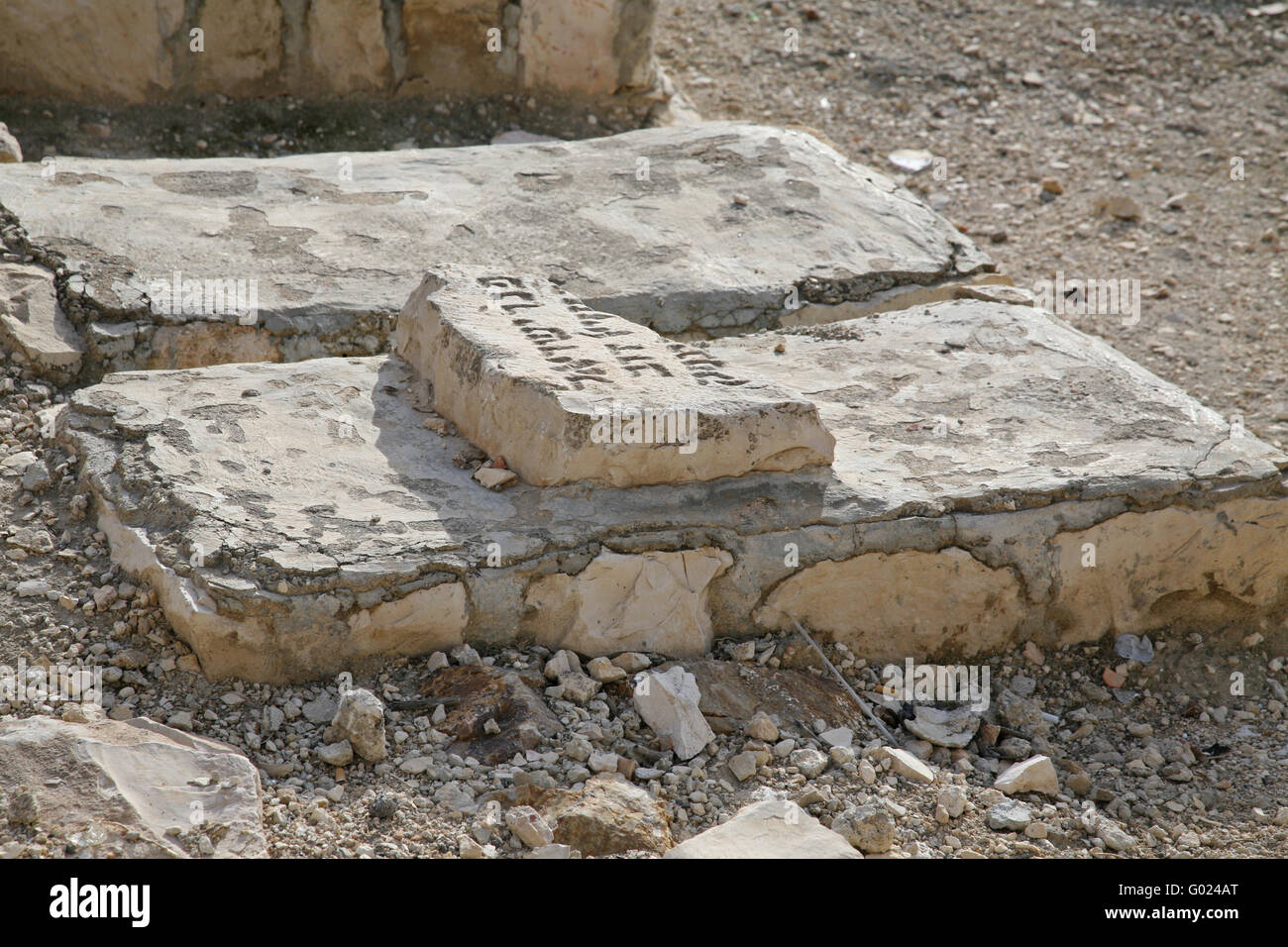 The Jewish cemetery on the Mount of Olives - Stock Image