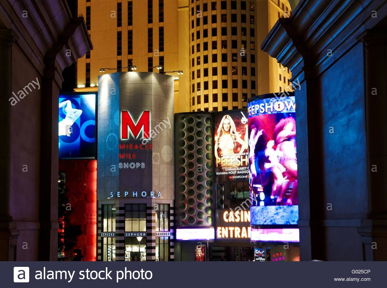 Las Vegas by night - Stock Image