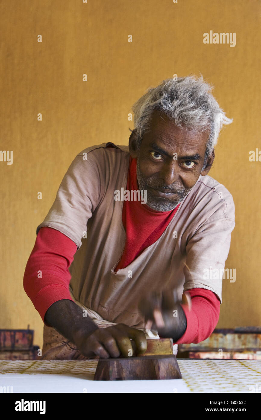 Indian to to stain cloth, North India, India, Asia - Stock Image